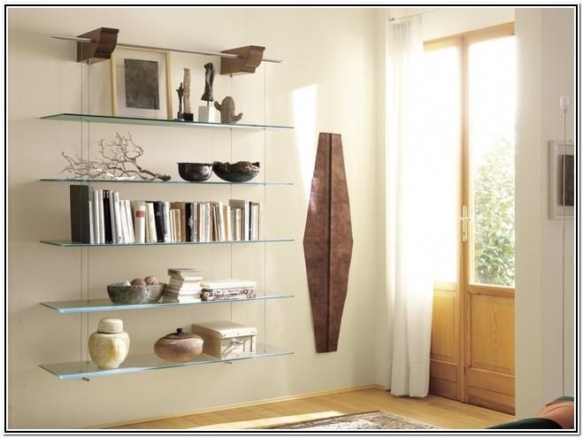Decorative Glass Wall Shelves For Living Room
