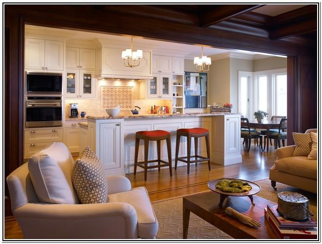Design For Small Open Kitchen And Living Room
