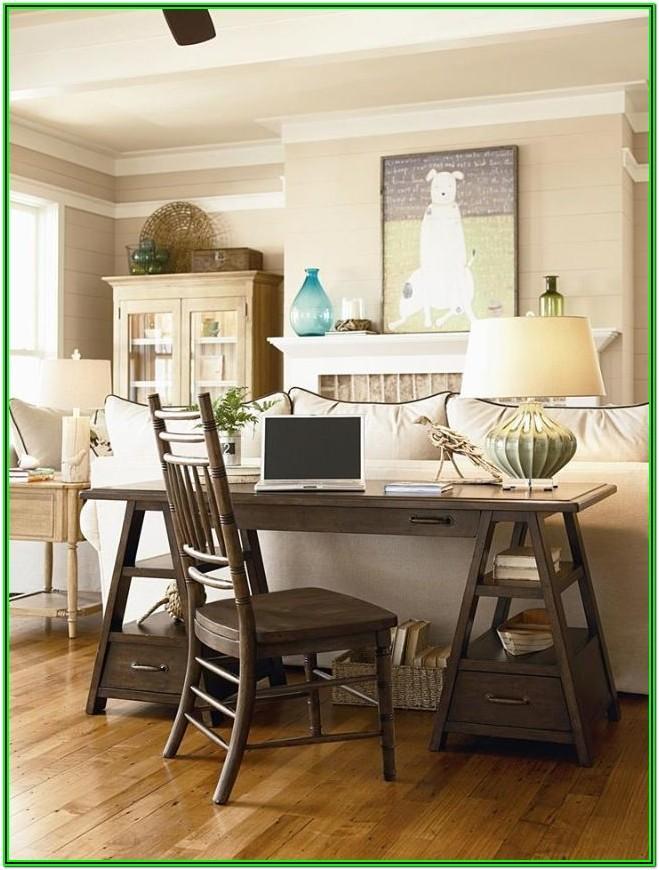 Desk Area Ideas In Living Room