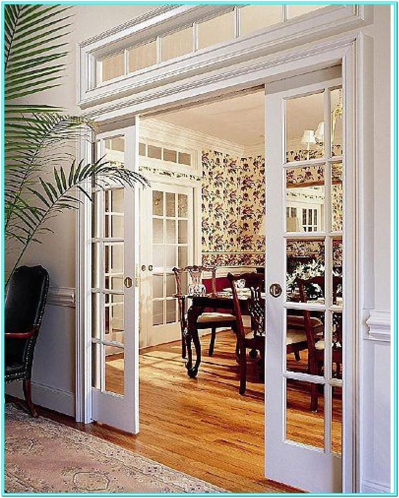 Double Doors Into Living Room