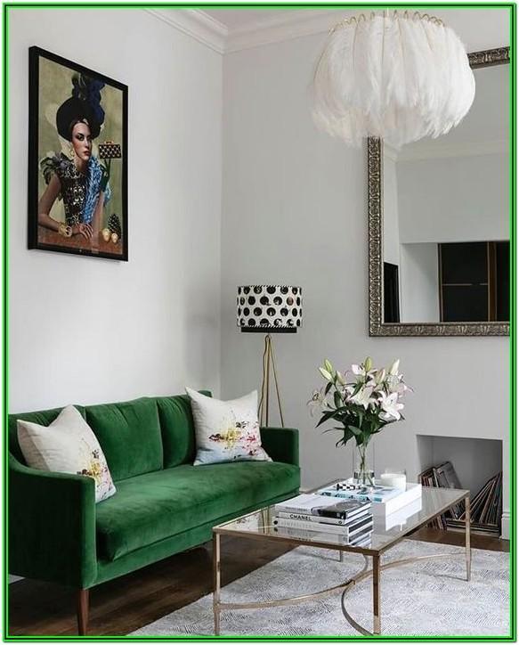 Emerald Green Sofa Living Room Ideas