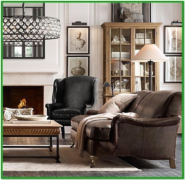 English Roll Arm Sofa Living Room