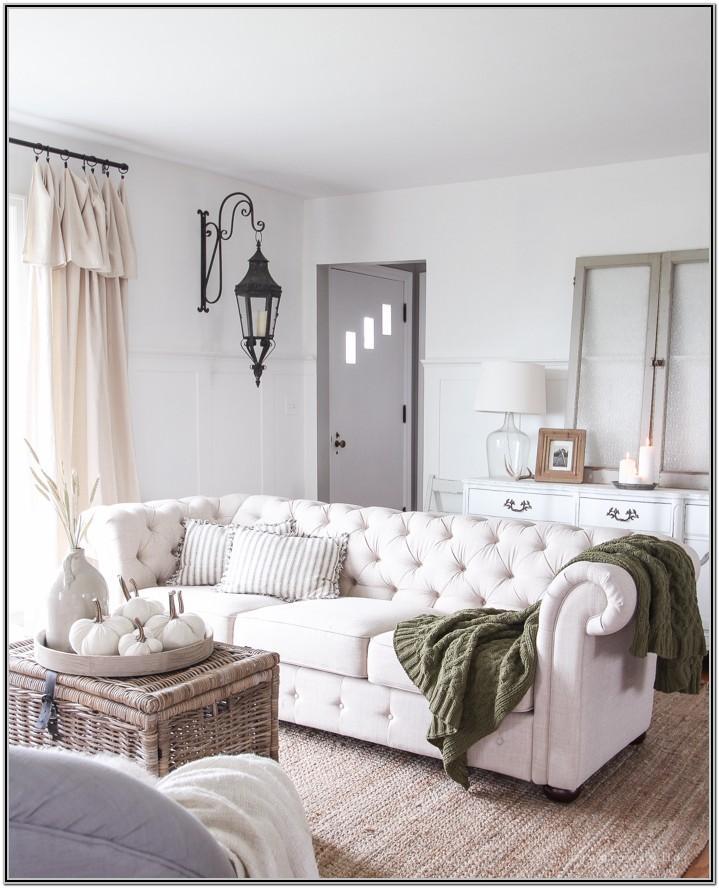 Farmhouse Grey Sectional Living Room
