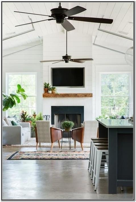 Farmhouse Living Room Ceiling Fan