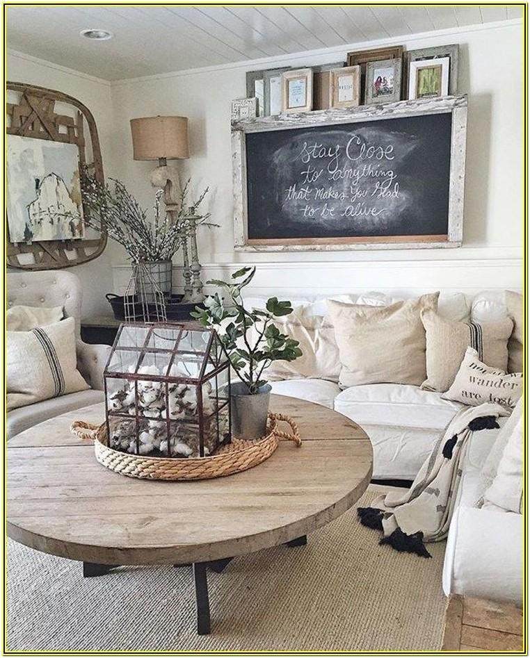 Farmhouse Living Room Coffee Table Decor