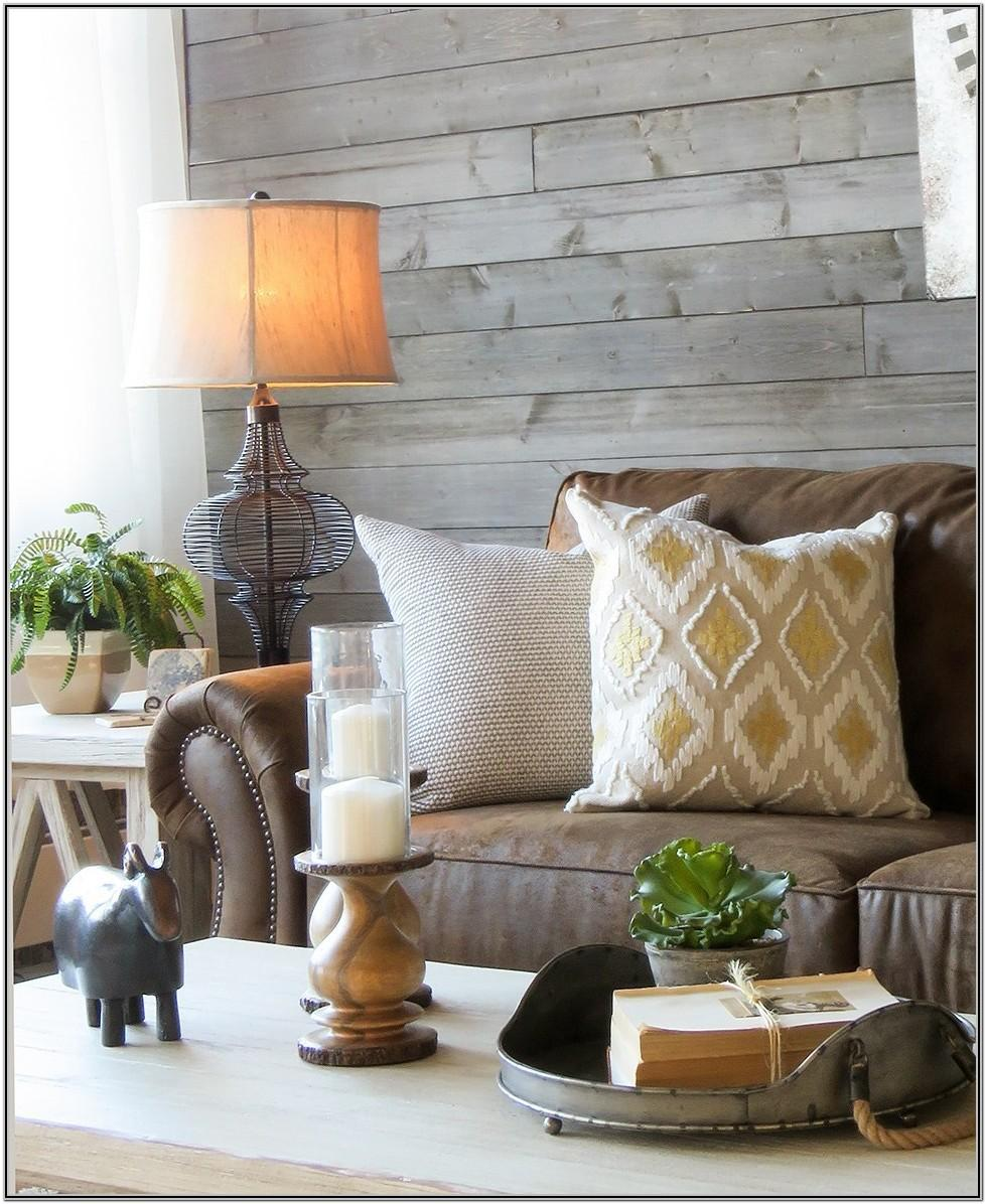 Farmhouse Living Room Grey Couch