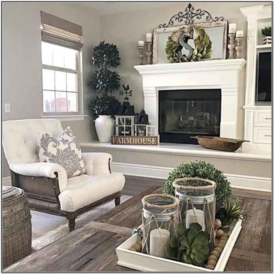 Farmhouse Living Room Large Wall Decor Ideas