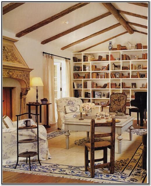 Faux Wood Beams In Living Room