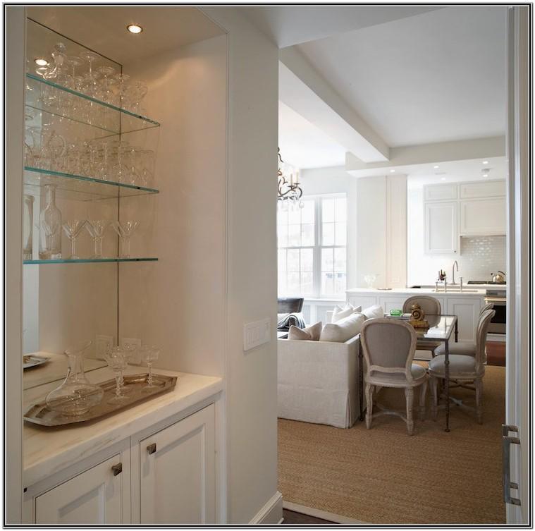 Floating Glass Shelves Living Room