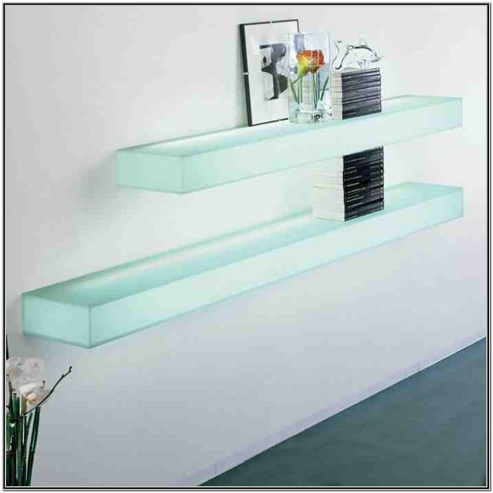 Floating Glass Wall Shelves For Living Room