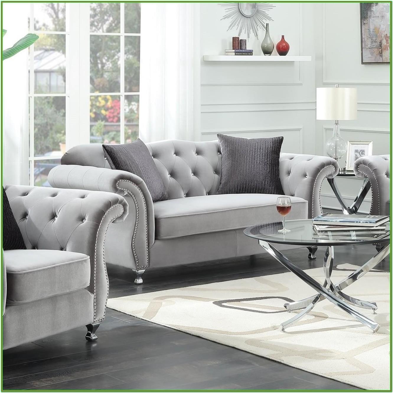 Frostine Silver Living Room Set