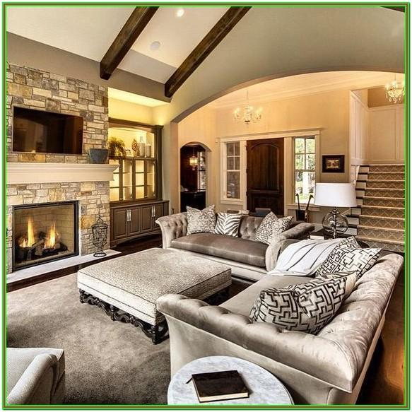 Furniture Layout For Rectangular Living Room With Fireplace And Tv
