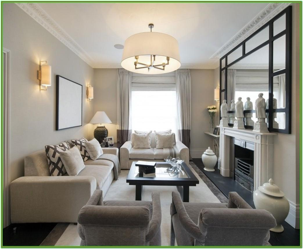 Furniture Layout For Rectangular Living Room With Fireplace
