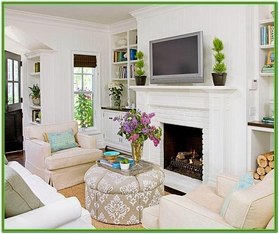 Furniture Placement For Small Living Room With Fireplace