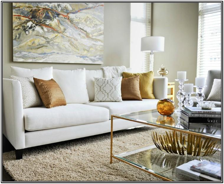 Gold Accent Pillows Living Room