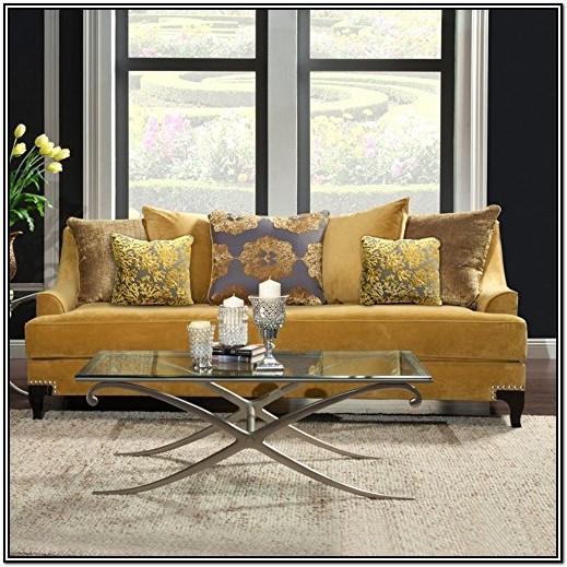 Gold Velvet Sofa Living Room Ideas