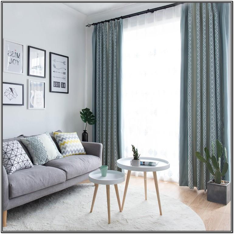 Gray And Blue Curtains For Living Room