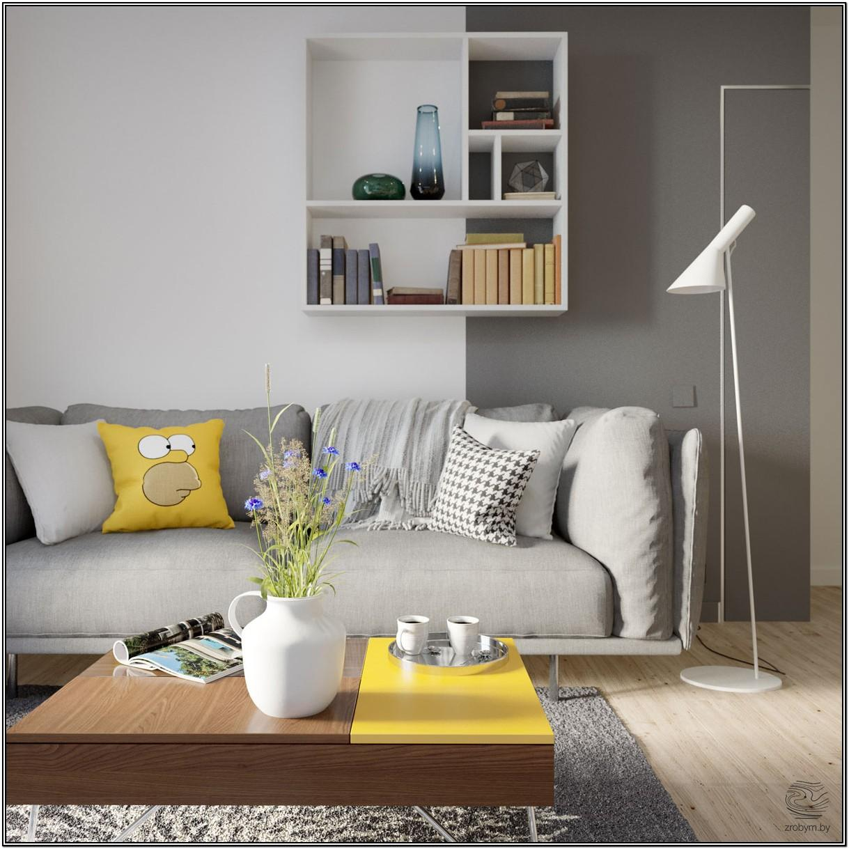 Gray And Yellow Living Room Furniture
