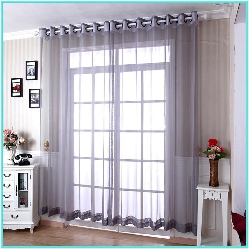 Gray Modern Living Room Curtains