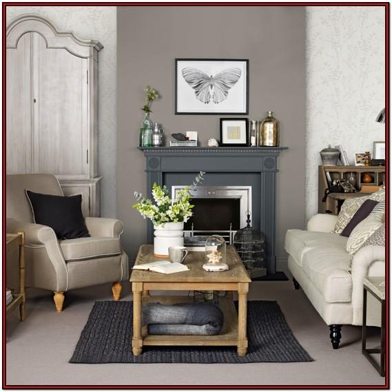Grey Brown And Tan Living Room