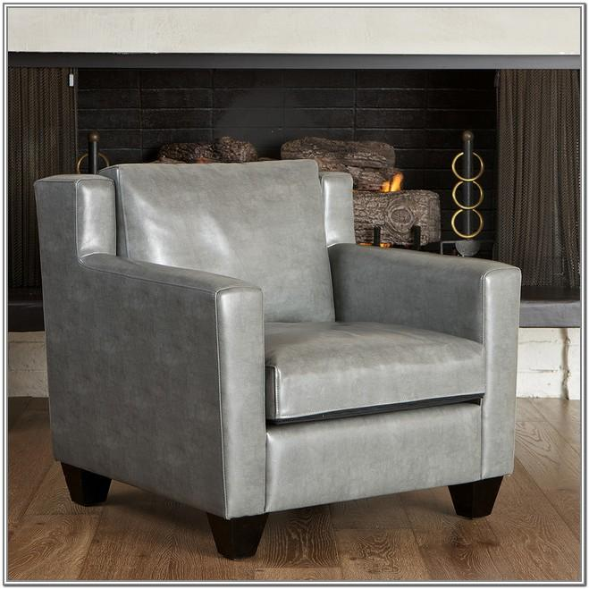 Grey Couch Leather Chair Living Room