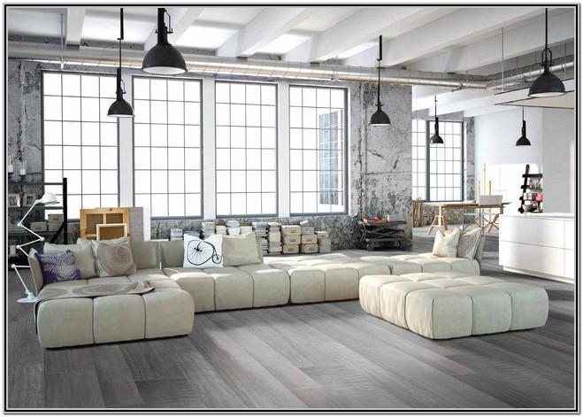 Grey Floor Tiles Design For Small Living Room