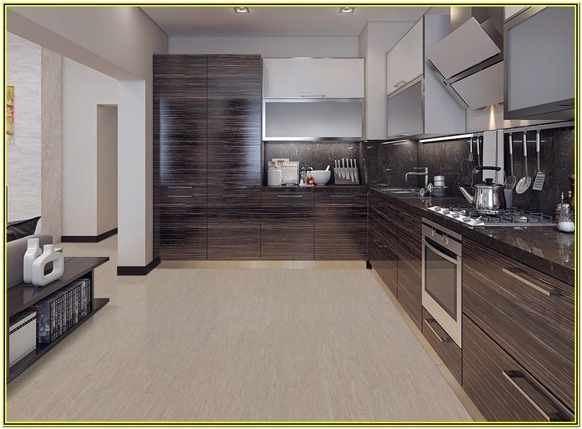 Grey Living Room Cork Flooring