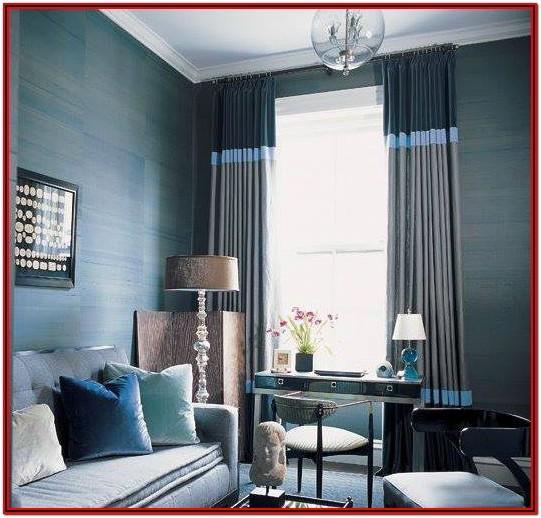 Grey Modern Living Room Curtain Ideas