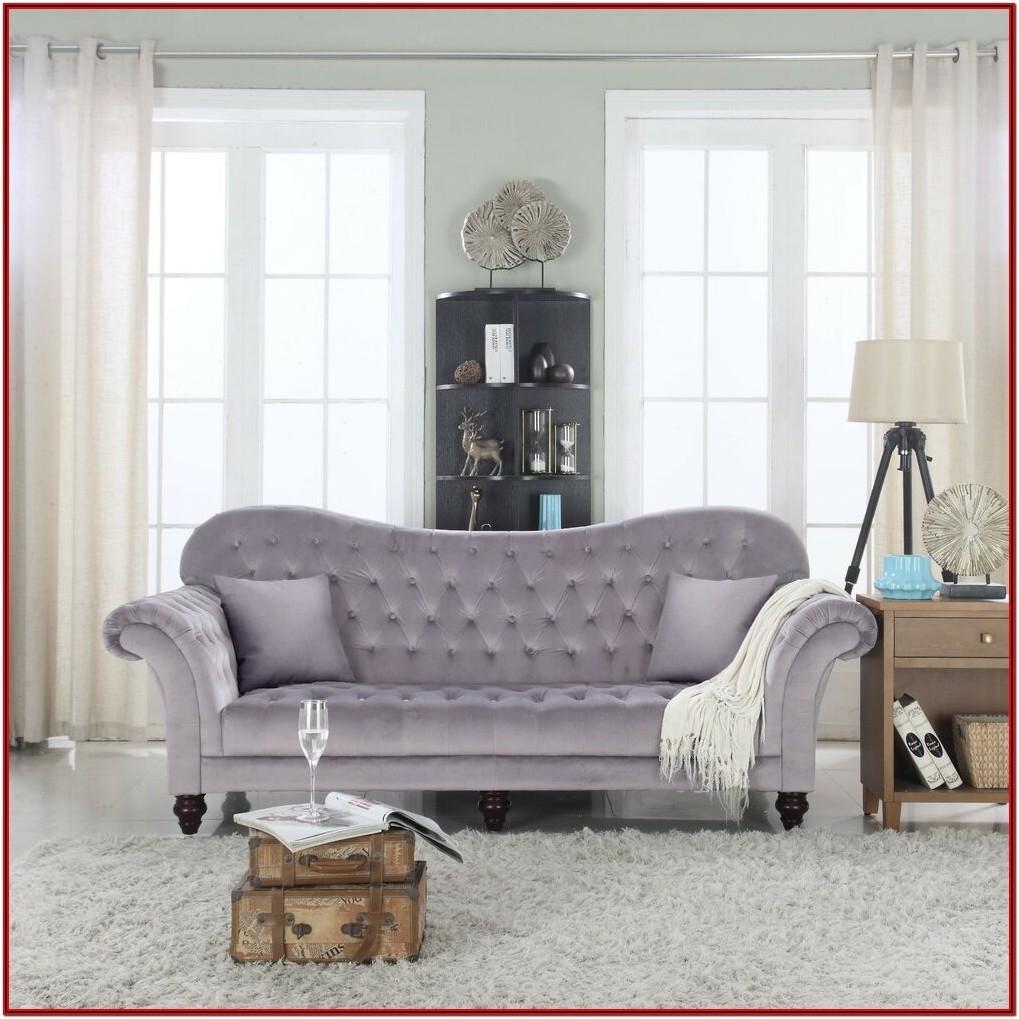 Grey Tufted Sofa Living Room