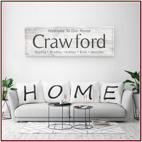 Large Wooden Signs For Living Room