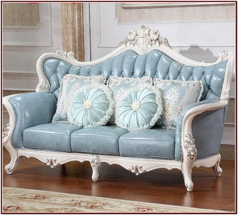 Leather Chesterfield Living Room Set