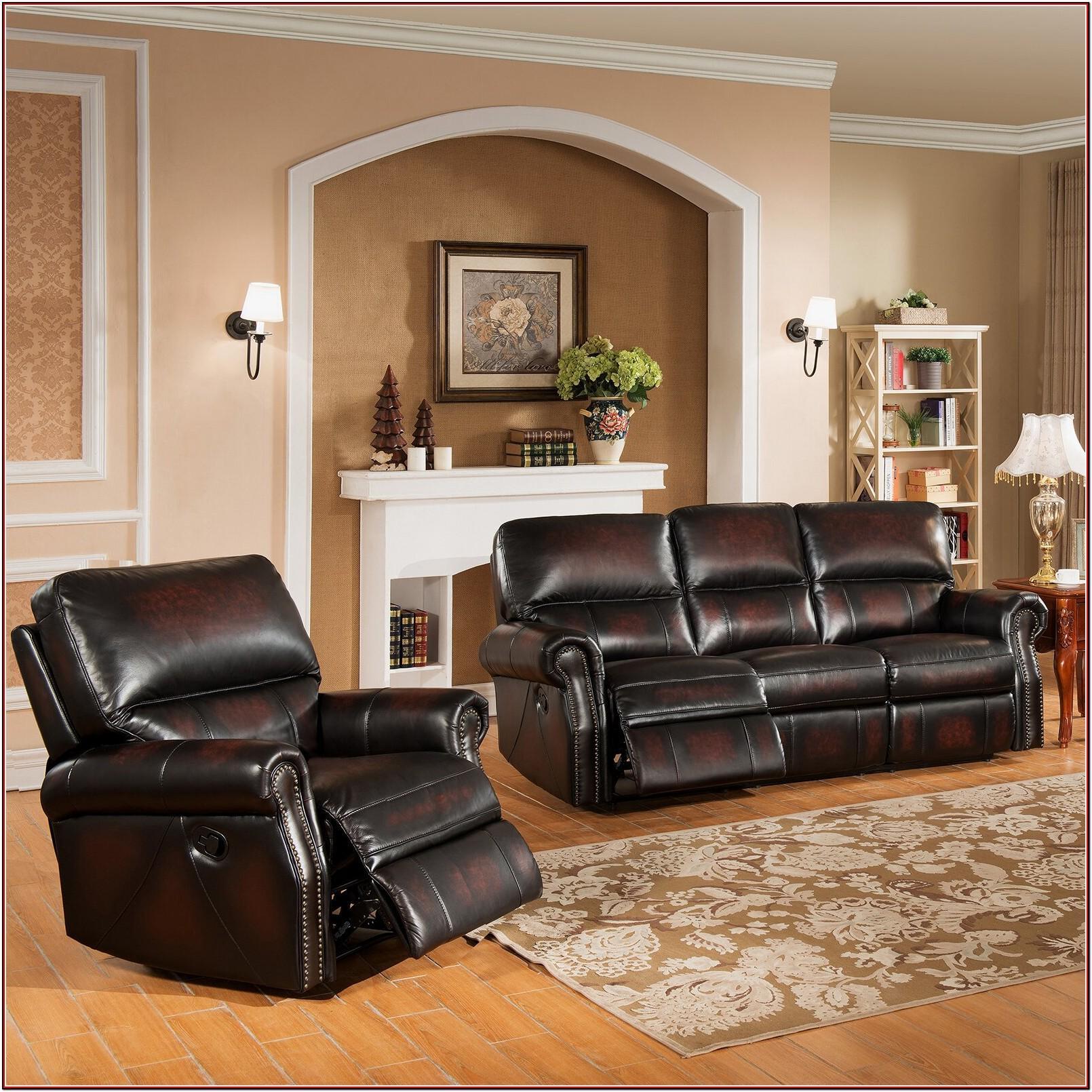 Leather Recliner Living Room Set