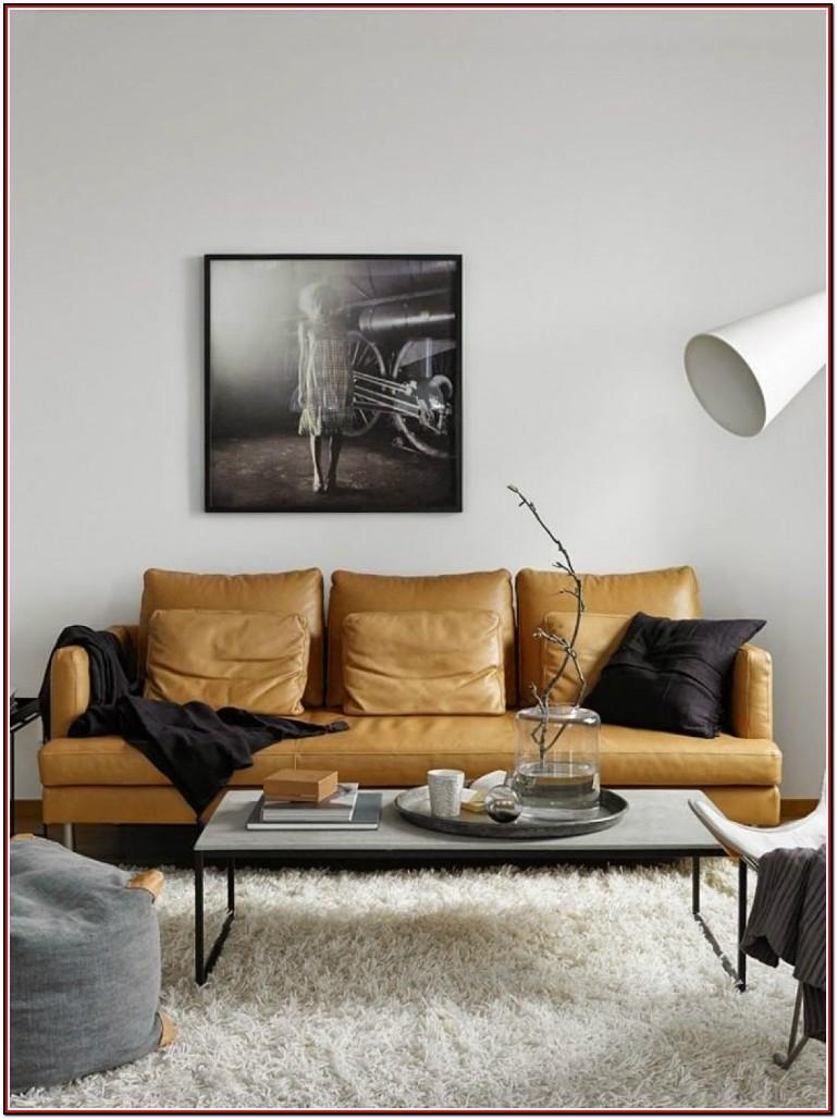 Leather Sofa Living Room Decor
