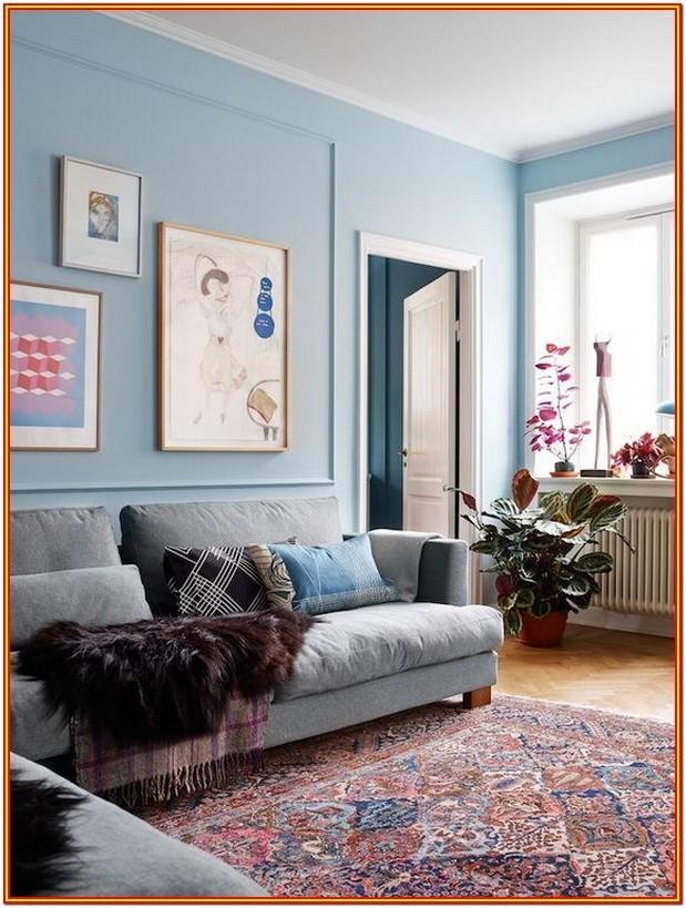 Light Blue Grey Paint Living Room