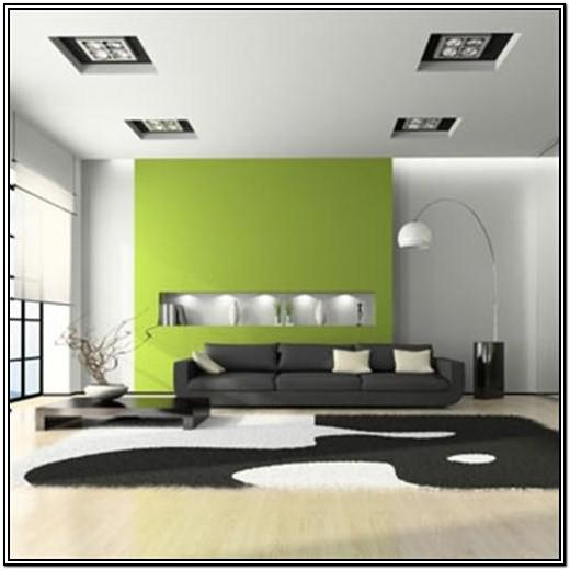 Lime Green Accent Wall Living Room