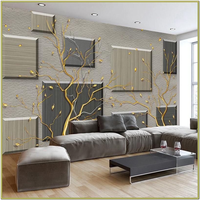 Living Room 3d Design For Wall