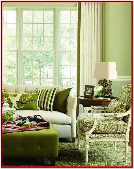 Living Room Apple Green Wall Paint