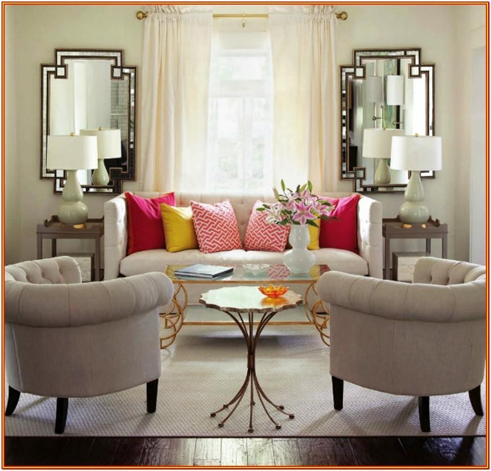 Living Room Big Black Mirror
