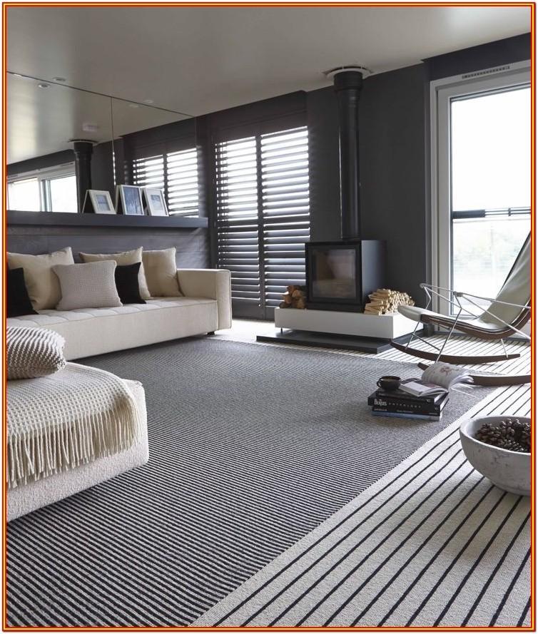 Living Room Black And White Striped Carpet