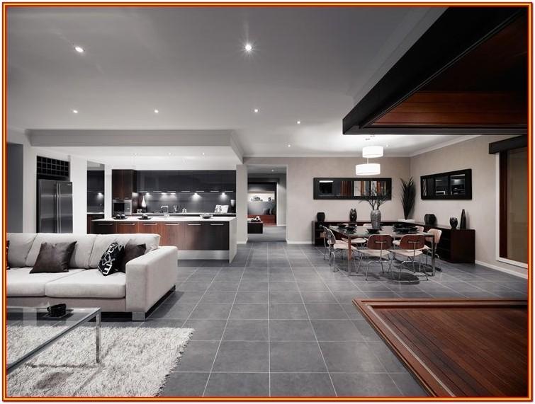 Living Room Black Colour Floor Tiles