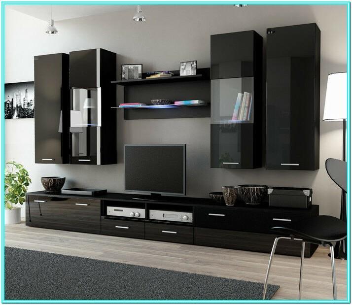 Living Room Black Entertainment Unit