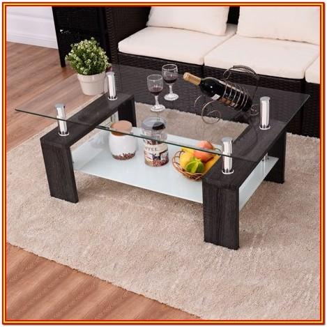 Living Room Black Wooden Coffee Table