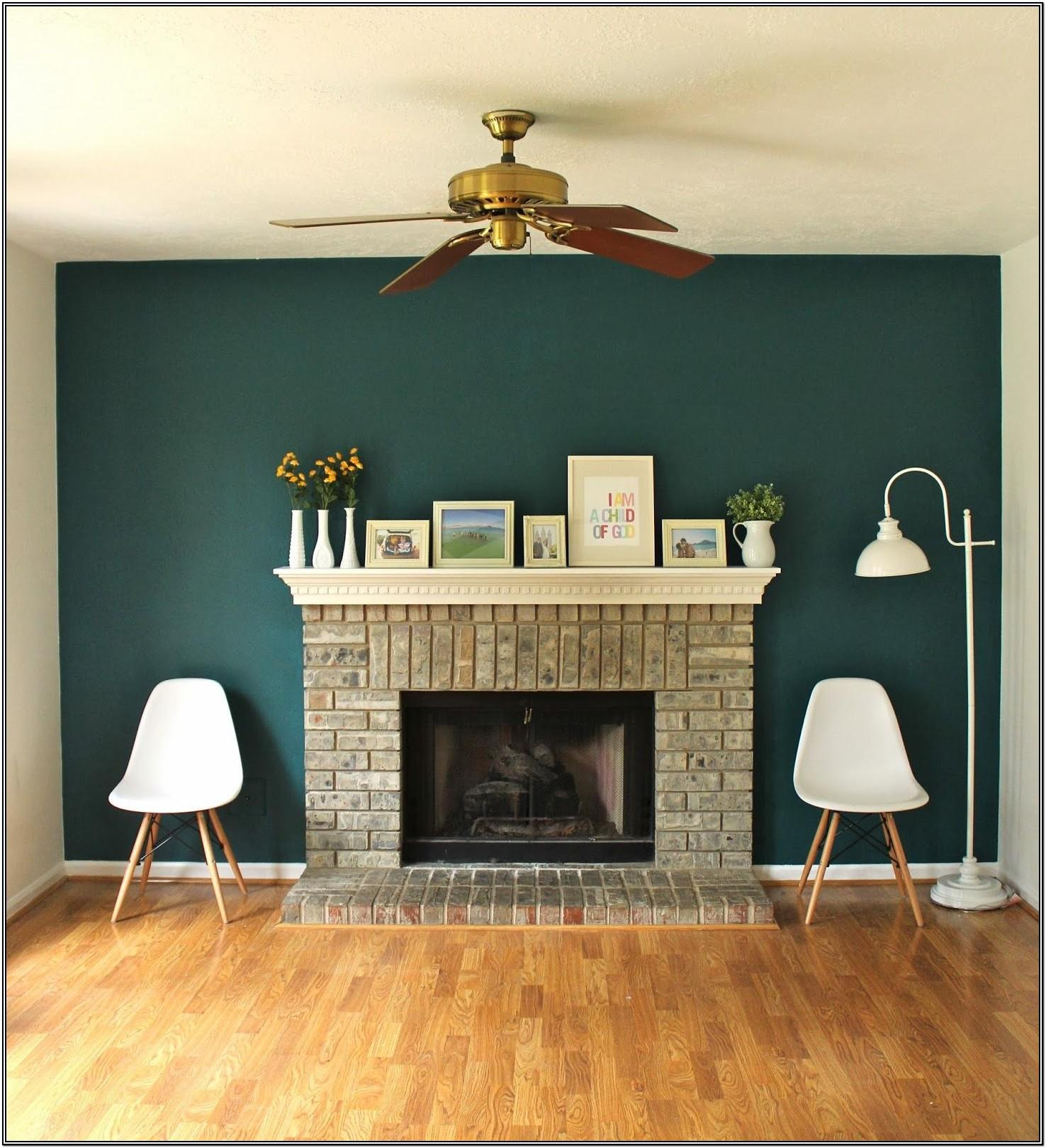 Living Room Blue Green Accent Wall