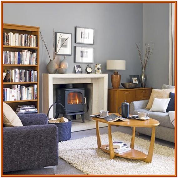 Living Room Blue Grey Wall Paint