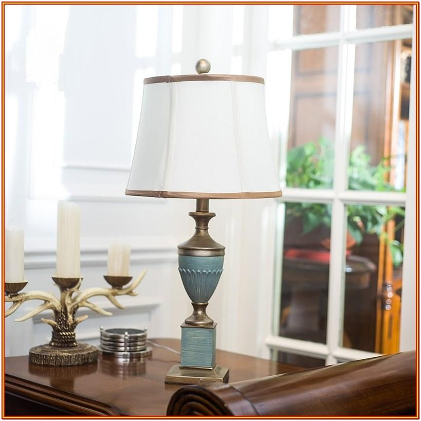 Living Room Blue Table Lamps