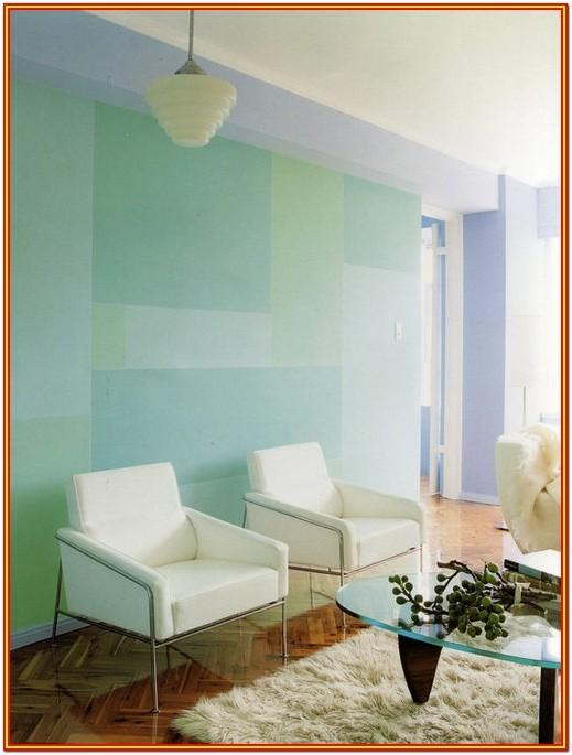 Living Room Blue Wall Painting Design