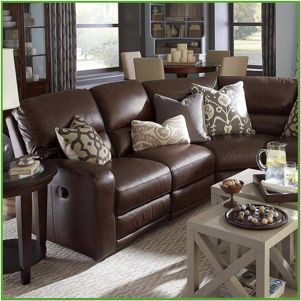 Living Room Brown Leather Furniture