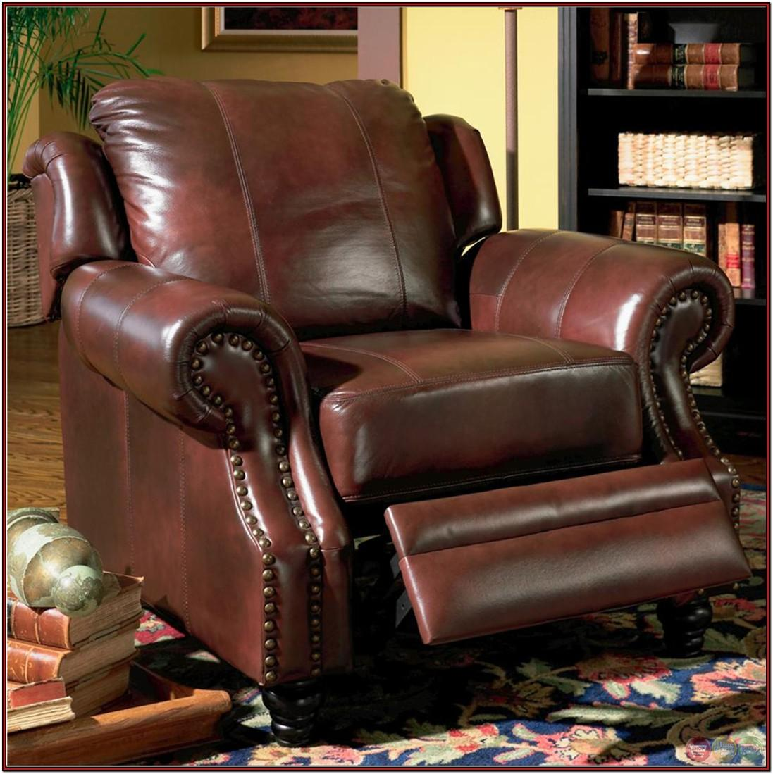 Living Room Burgundy Leather Couch
