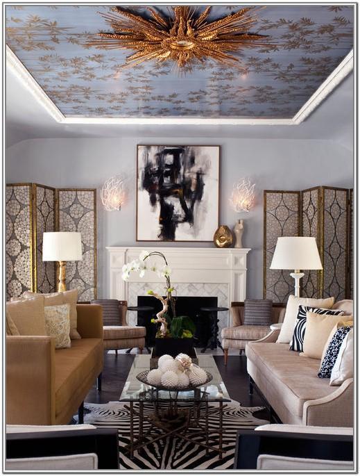 Living Room Ceiling Paint Design