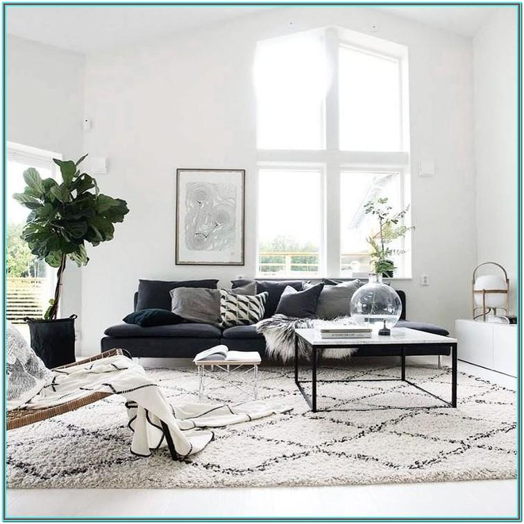 Living Room Charcoal Carpet White Walls